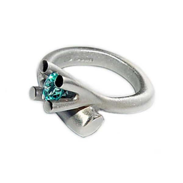 The tapering bough ring is inspired by nature. The ring has a solid silver band which tapers from 5mm and It is 3.5mm across the back. It is crowned with a majestic 4 branch gemset design (image featured shows 5mm blue topaz).