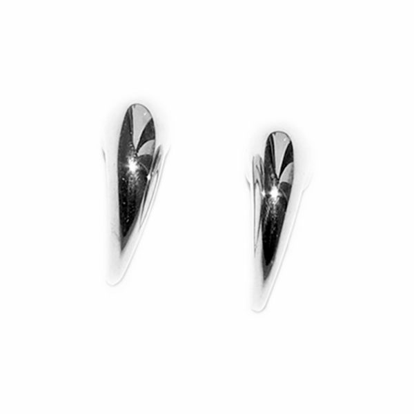 These solid silver wiggly hoop earrings taper from 5mm. Approximate dimensions are height 13mm x width 5mm x 10mm depth. They are practical and comfortable therefore ideal for everyday wear.