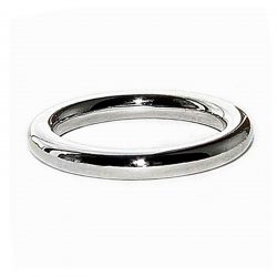 Round 3mm white gold halo wedding band