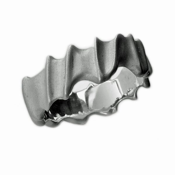 The detailed silver vine ring is a unique & very tactile solid silver band. It has an unusual detailed surface with a smooth polished interior. It is practical & very comfortable on and designed to be worn by men or women. The ring has an undulating width of approx 61/2 - 8mm and has a depth of approx 2mm. The ring is individually handmade to order and is available in a wide range of sizes including 1/2 sizes. It comes in a satin or polished finish. Please let us know your ring size when you place your order.We use the UK/AU sizing system, however. If you have a ring size based on EU, US/Canada or any other international sizing system we can convert it.