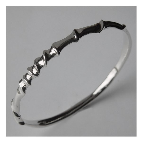 Silver twist vine bangle. This solid silver bangle is simple yet striking with it's delicate detail. It is approx 6mm in width.